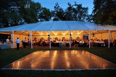 might be a good idea: tables under a tent, everything else outside