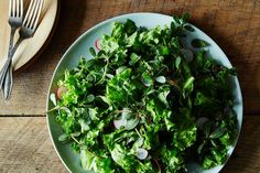 leafy fall salad from food52