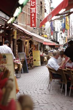 Nine years ago this weekend I visited Belgium. The winding street of restaurants full of hawkers was so wonderful and memorable.