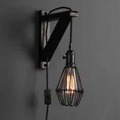 Adjustable Industrial Plug in Sconce Bedside Wall lamp Wood Bracket Wall Light Outdoor Light Fixtures, Bedroom Lighting, Bedside Wall Lamp, Wall Lights, Bracket Wall Light, Lamp, Sconces, Wood Brackets, Bedroom Lighting Design