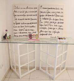 Telas de pintura escritas manualmente, decoração do quarto