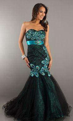 peacock dress! so pretty!