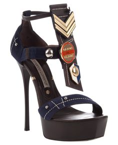 GIANMARCO LORENZI Military badge sandal