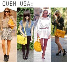 Fashion trend: bolsas amarelas