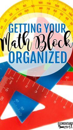 Math Organization Classroom Blog Post- a math blog post all about organizing manipulatives, math centers, math paperwork, and other math activities- organizing math, classroom organization