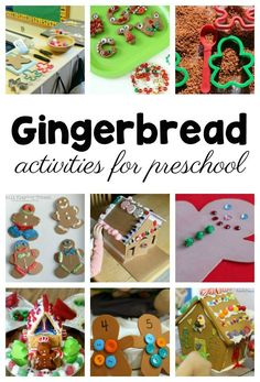 Gingerbread Activities for a Preschool Gingerbread Theme - Love these ideas to try after reading about the gingerbread man #Christmas #FunADay #Preschool #PreK #ECE #KidsActivities #IdeasforKids #PreschoolTeachers #PreschoolThemes #Christmas #Gingerbread