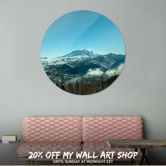 Discover «Mt St Helens Big View», Limited Edition Disk Print by Troy Stapek - From $65 - Curioos