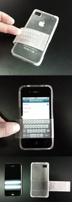 Iphone keyboard case. You can turn the case over to protect your lovely iPhone.