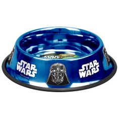 Platinum Pets Star Wars Stainless Steel Non-Tip Bowl with Darth Vader Design - Stainless Steel - Bowls & Feeding Accessories - PetSmart