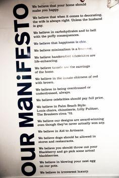 Simon & Jonathan's Manifesto