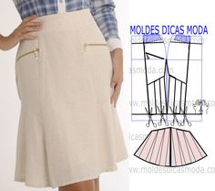 Image may contain: people standing and text Clothing Patterns, Dress Patterns, Sewing Patterns, Fashion Sewing, Diy Fashion, Pola Rok, Costura Fashion, Mode Chic, Pattern Drafting