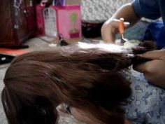 Cutting My Doll Frizziez