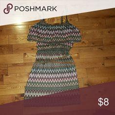Womens dress Mulit color dress. Worn once. Lily Rose Dresses Midi