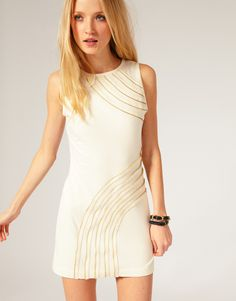 Asos.com, Ted Baker Jersey Dress with Zip Detail, $159.58