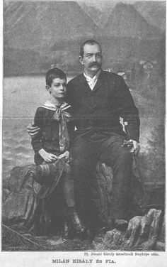 King Milan Obrenovic with his son, Princ Aleksandar in 1888