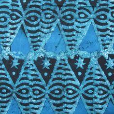 African Fabric Wax Batik #866