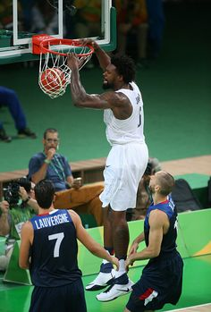 DeAndre Jordan of USA in action during the basketball match between France and…