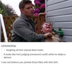Fashion sense.  Deans got it.