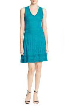 M Missoni Sleeveless V-Neck Knit Dress