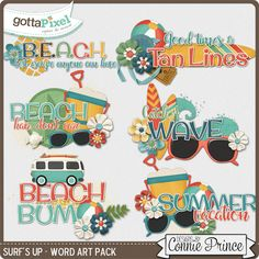 Surf's Up - Word Art :: Gotta Pixel Digital Scrapbook Store by Connie Prince  $2.99