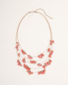 Bubbly beads illusion necklace