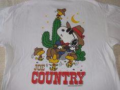 "1990's Peanuts Snoopy ""Joe Cool"" ""Joe Country"" Men's T-Shirt size XL #Peanuts #GraphicTee"
