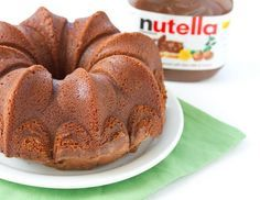Pure Nutella Cake by Kirbie's Cravings. (nutella glaze from Chung-Ah Ree: whisk c. nutella, c. drizzle over baked goods, ice cream, etc. Nutella Fudge, Cake Au Nutella, Nutella Recipes, Cake Recipes, Dessert Recipes, Nutella Frosting, Brownie Cake, Köstliche Desserts, Delicious Desserts