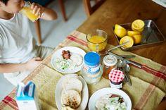 Breakfast.still one week left of summer vacation…OMG!
