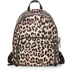 Kate Spade New York Watson Lane Leopard Hartley Backpack ($198) ❤ liked on Polyvore featuring bags, backpacks, top handle bags, leopard print backpacks, animal print backpacks, leopard bag and kate spade