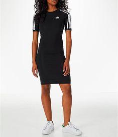 8b038fd579 Front view of Women s adidas Originals 3-Stripes Dress in Black Addidas  Dress