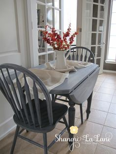 Drop Leaf Table Set in custom color mix of Safe Paint