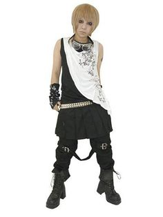 Asymmetry Layer Like Tank Top Black x White. #punkfashion #Gothic #Deorart See more at: http://www.cdjapan.co.jp/apparel/deorart.html