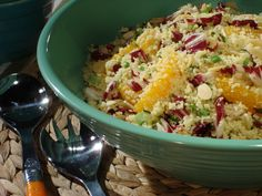 Couscous with Orange and Almonds Recipe : Bobby Flay : Food Network - FoodNetwork.com