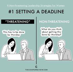 Frauen in Führungspositionen  verunsichern viele Mitarbeiter.  // THE COOPERREVIEW // LEADERSHIP STRATEGIES FOR WOMEN // IT'S FUNNY 'CAUSE IT'S TRUE