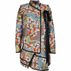 PROENZA SCHOULER FLORAL PRINTED ACETATE Coat - via walkinmycloset.com