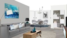 Visual of modern Scandi apartment in Barbican, London. Barbican, Gallery Wall, London, Frame, Modern, Projects, Room, Home Decor, Style