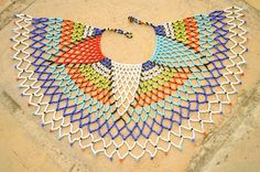 20% off Royal Tribal Necklace Beaded Shoulder by akwaabaAfrica