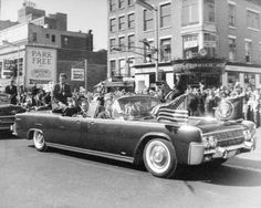 JFK riding down Broad Street, Newark NJ, Oct. 12, 1962. I was there.
