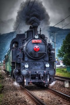 Photo iron steed by Tomas Piller Best Photo Background, Background Images, Old Steam Train, Train Truck, Old Trains, Vintage Trains, Train Art, Hdr Photography, Railroad Photography