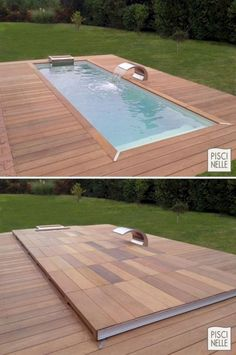 , Custom Rolling Deck Ausgestattete Pools # backyardpools # shipping container pool Even though ancient throughout concept, this pergola is experiencing somewhat of a present day rebirth these kinds of days. Small Backyard Pools, Backyard Pool Designs, Small Pools, Swimming Pools Backyard, Swimming Pool Designs, Pool Decks, Outdoor Pool, Backyard Landscaping, Landscaping Ideas