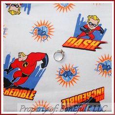 BonEful Fabric FQ Flannel Cotton Mr Incredible L Dash Super Hero Boy Movie Retro