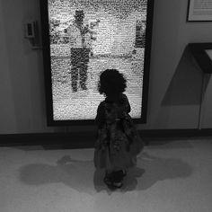 """Maleah looking at a mosaic image of me taking this photo"" Interactive Installation, Human Connection, My Images, Reflection, Mosaic, Instagram Posts, Art, Art Background, Mosaics"