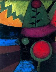 """reblololo: """" yama-bato: """" crashinglybeautiful: """" Paul Klee, """"Three Flowers,"""" 1920 Oil on priming on cardboard, oil on whole reverse surface x 15 cm """" """" Paul Klee Art, Georges Braque, Art Abstrait, Wassily Kandinsky, Pablo Picasso, Famous Artists, Oeuvre D'art, Les Oeuvres, Painting & Drawing"""