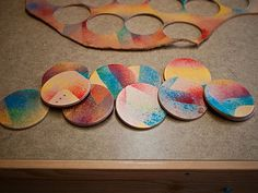DIY leather stained coasters