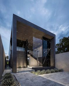 Concrete house in Tehuacan designed by JPR architecture. Residential Architecture, Amazing Architecture, Contemporary Architecture, Interior Architecture, Concrete Architecture, Black Architecture, Pavilion Architecture, Architecture Images, Japanese Architecture