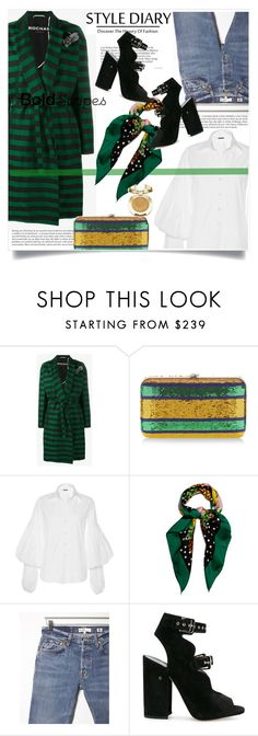 """Big, Bold Stripes"" by lidia-solymosi ❤ liked on Polyvore featuring Rochas, Johanna Ortiz, Dolce&Gabbana, RE/DONE, Laurence Dacade, Milani and BoldStripes"