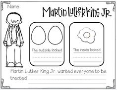 Mlk Freebie Mlk Freebie This Is A Response Sheet For The Egg