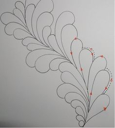 Ivory Spring method of quilting feathers tutorial http://ivoryspring.wordpress.com/2011/11/18/thread-talk-from-my-sewing-machine-27/#