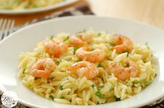 Lemon Pepper Shrimp with Lemon Orzo from www.a-kitchen-addiction.com (add earth balance butter to it)