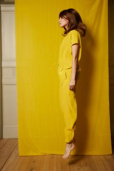 Love yellow clothes!
